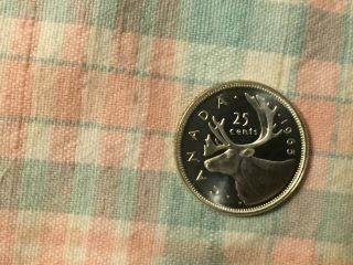 Canada 1965 Proof Like Silver 25 Cent Coin photo