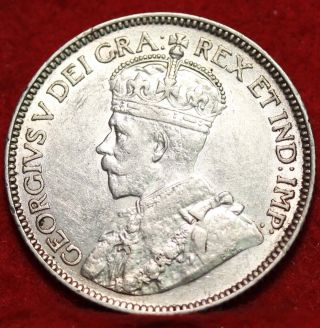1912 Canada 25 Cent Silver Foreign Coin S/h photo