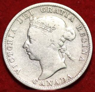 1899 Canada 25 Cent Silver Foreign Coin S/h photo