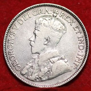 1913 Canada 25 Cent Silver Foreign Coin S/h photo