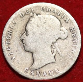 1892 Canada 25 Cent Silver Foreign Coin S/h photo