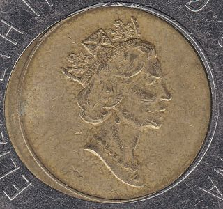 Rare 1996 Canadian 2 Dollar Coin - Center Off Strike photo
