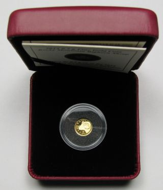 2014 Proof 25 Cents Rocky Mountain Bighorn Sheep 0.  5g.  9999 Gold Canada Twenty - F photo