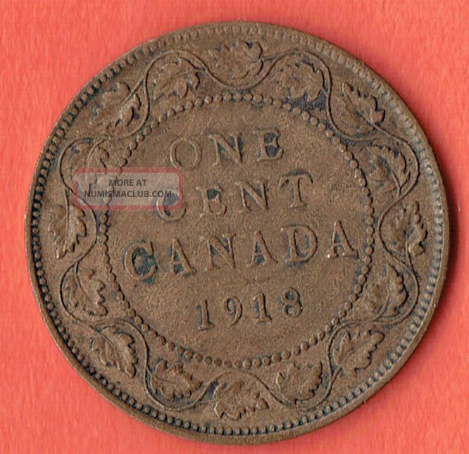 Canada One Cent 1918 Quality Bronze Coin