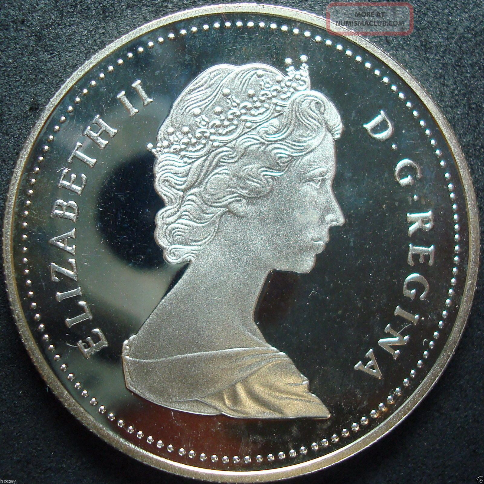 1989 Canada Proof Mackenzie River Silver Dollar Coin