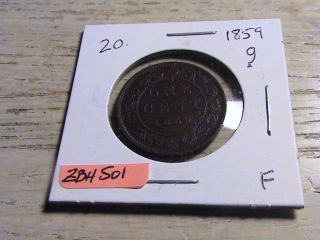 1859 Canadian Large Cent - Zbh501 photo