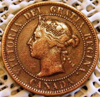 1891 Canada One 1 Cent Victoria Coin photo