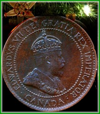 1903 Canadian Large Penny Brown About Uncirculated Holiday Price $8.  00 Open photo