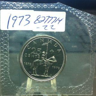1973 Elizabeth Ii Canadian Quarter photo
