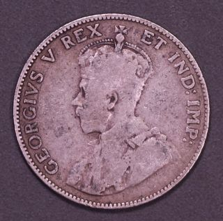 Canada 1911.  925 Silver One Year Type Quarter Vg Very Good King George V photo