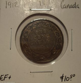 Canada George V 1912 Large Cent - Ef, photo