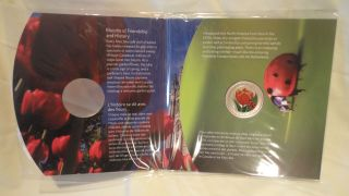 Canada 2011 25 Cent Tulip With Ladybug Colored Coin Package photo
