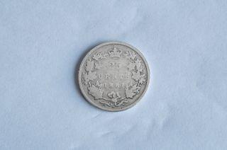 Canada 1881 Silver Quarter 25 Cent Twenty - Five Key Date Vg - 8 photo