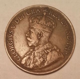 1916 Canada Large Cent Coin. . . . .  121914 photo
