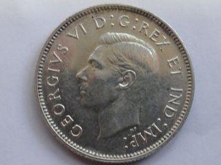Canada 800 Silver 1944 25 Cents George Vi photo