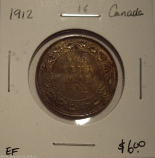 Canada George V 1912 Large Cent - Ef photo