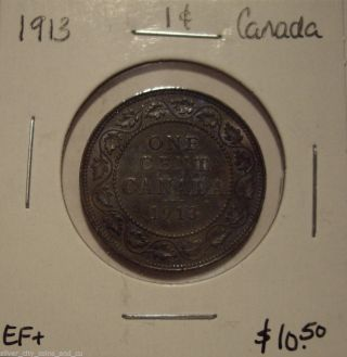 Canada George V 1913 Large Cent - Ef, photo