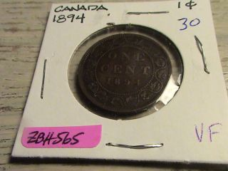 1894 Canadian Large Cent - Zbh565 photo