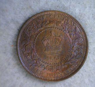 Brunswick Cent 1861 Unc Canada Coin (stock 0248) photo