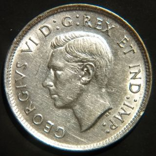 Rare 1939 Canada George Vi 25 Cents Km 35 About Uncirculated photo