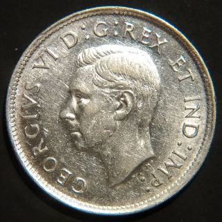 Rare 1938 Canada George Vi 25 Cents Km 35 About Uncirculated photo