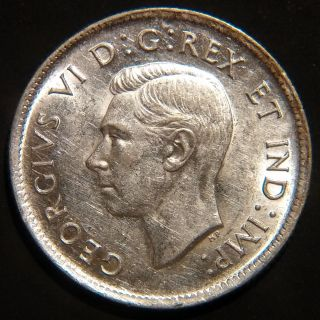 Rare 1937 Canada George Vi 25 Cents Km 35 About Uncirculated photo