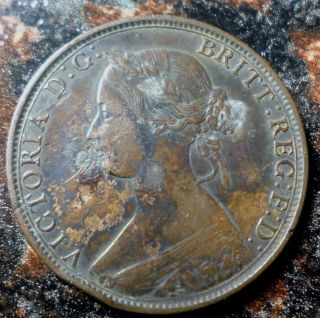 1864 Brunswick Canada One Cent Victoria Km 6 A - 722 photo