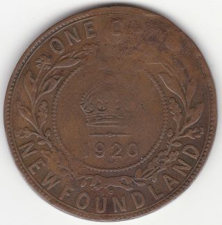 1920c Newfoundland 1 Cent Coin photo