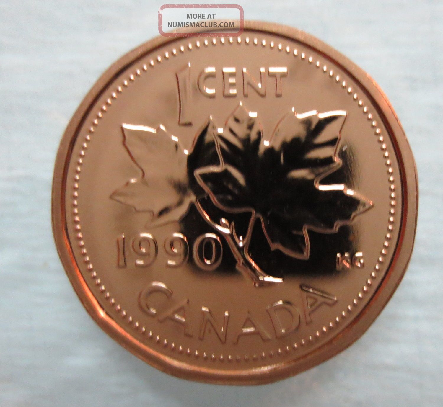 1990 Canada 1 Cent Proof - Like Penny