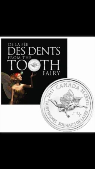 2011 Royal Canadian Tooth Fairy Collector Coin 25 Cent Quarter photo
