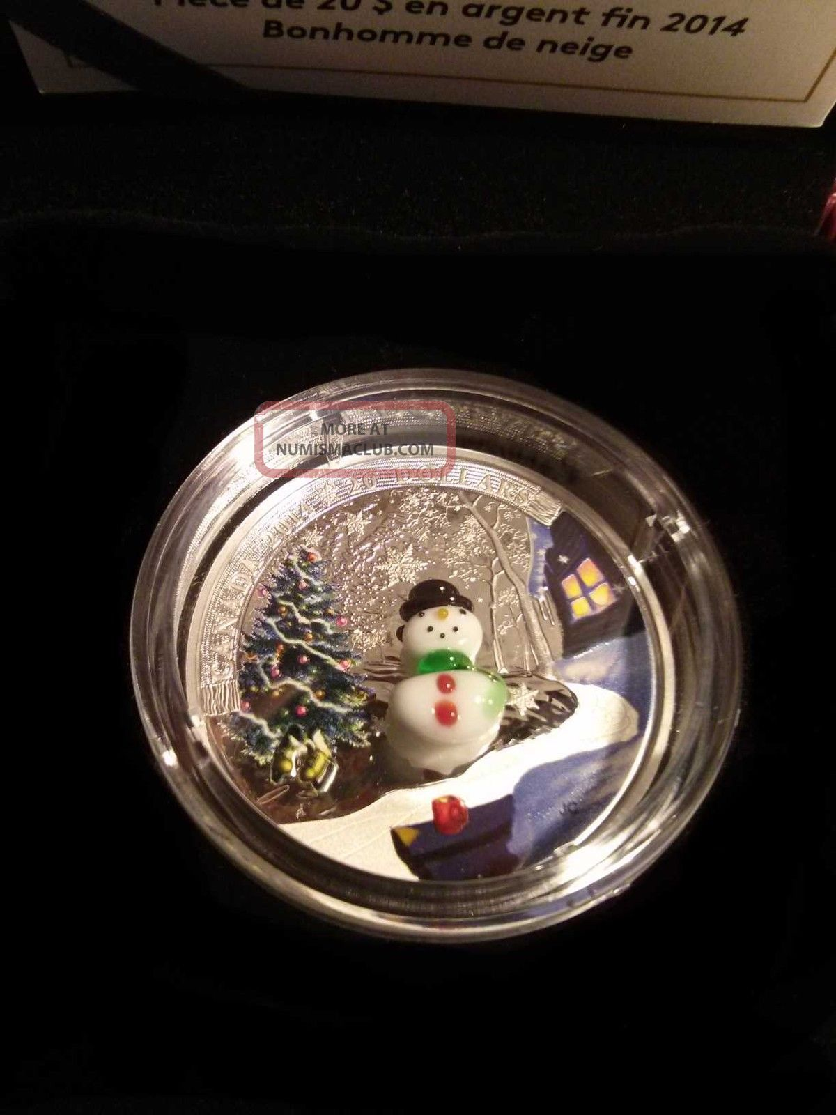 2014 canada 1oz 20 fine silver coin murano glass snowman. Black Bedroom Furniture Sets. Home Design Ideas