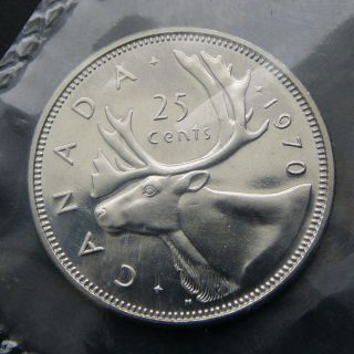 Canada - 25 Cents 1970 Elizabeth Ii - - Proof Like Unc.  - - By The photo