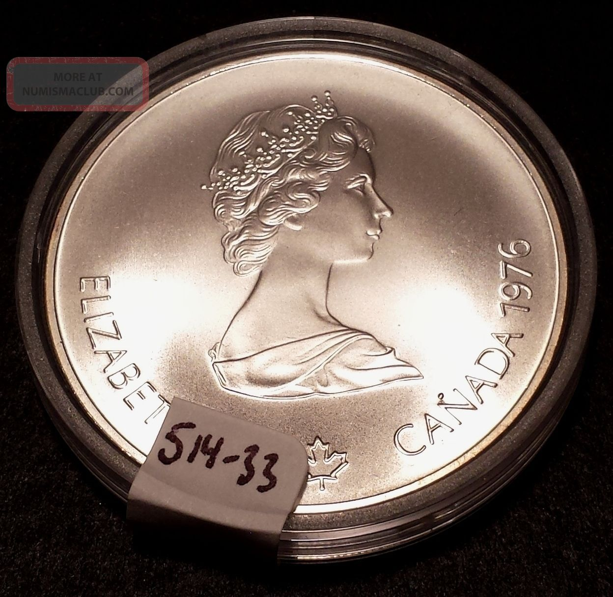 1976 Canadian Silver 5 Dollar Coin 1976 Montreal
