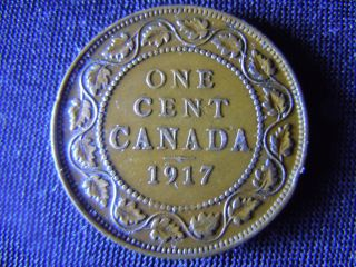 1917 - Canada - Large - One Cent - Coin - - Canadian - Penny - H13 photo