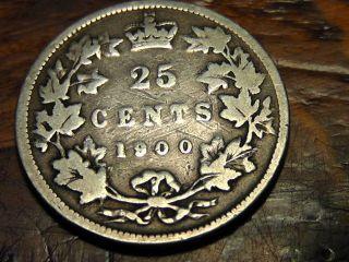 1900 Canada Twenty Five Cents 25c photo