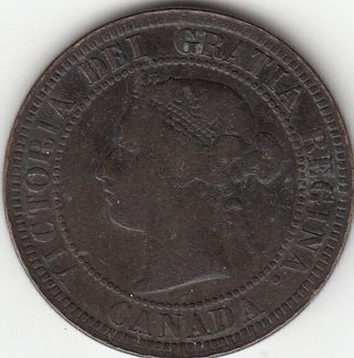 1882h Obv 1 Victoria Large Cent Vg - F photo