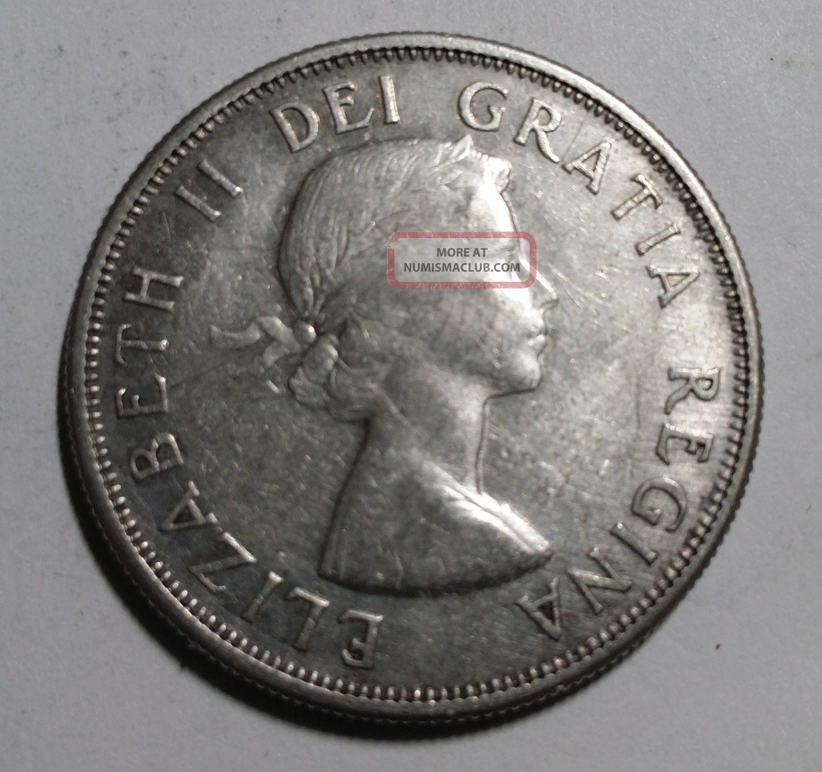 1957 50 Cent Silver Canada Coin