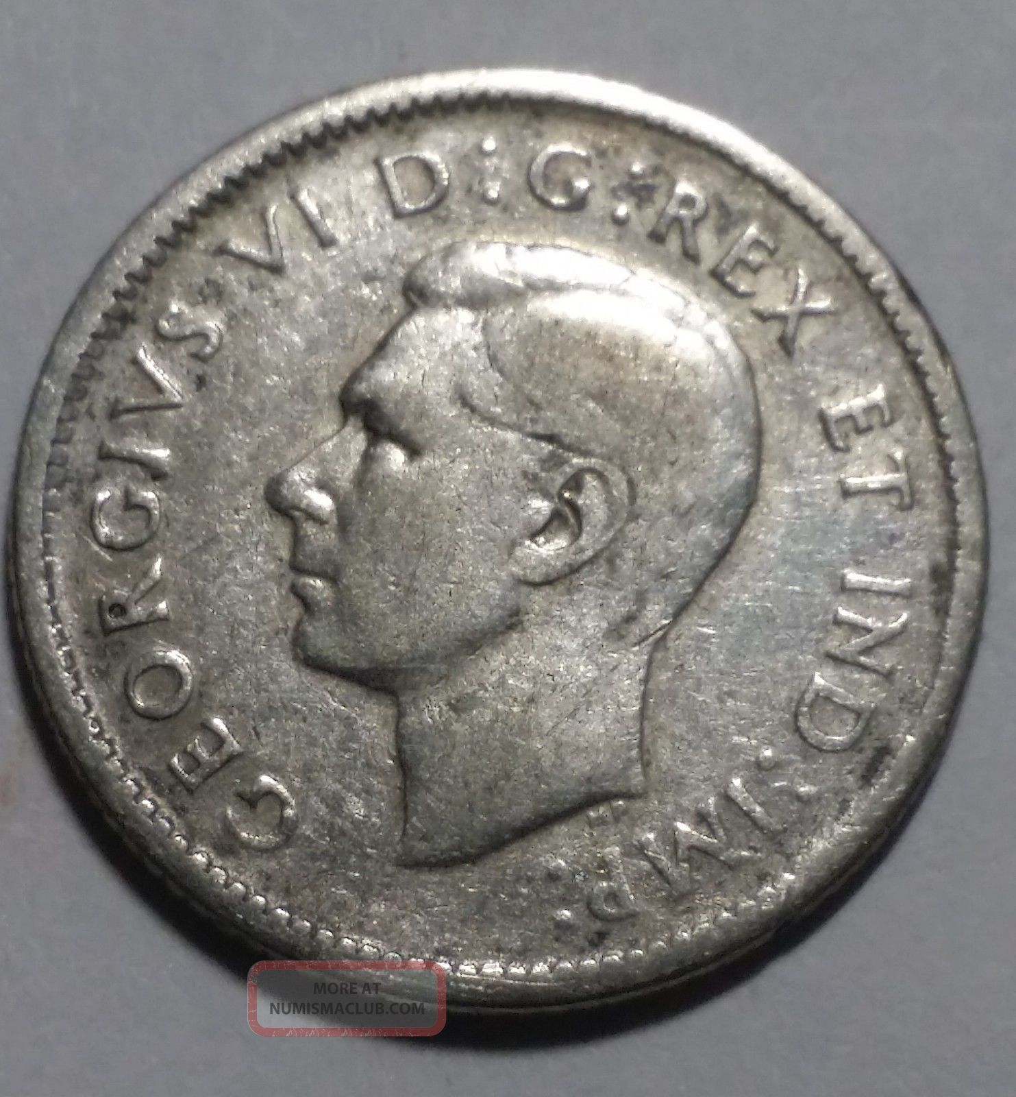 1943 10 Cent Dime Canada Coin