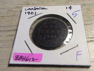 1901 Canadian Large Cent - Zbh612 photo