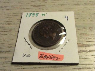 1898 H Canadian Large Cent - Zbh592 photo