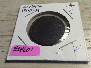 1900 H Canadian Large Cent - Zbh607 photo