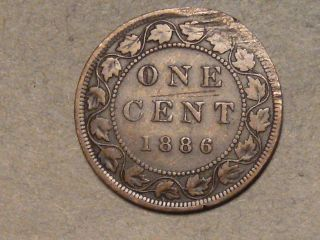 1886 Canadian Large Cent 2264b photo
