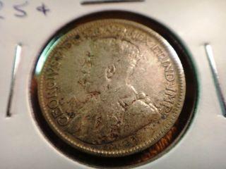 1936 Canada Silver 25c Quarter S&h Usa photo
