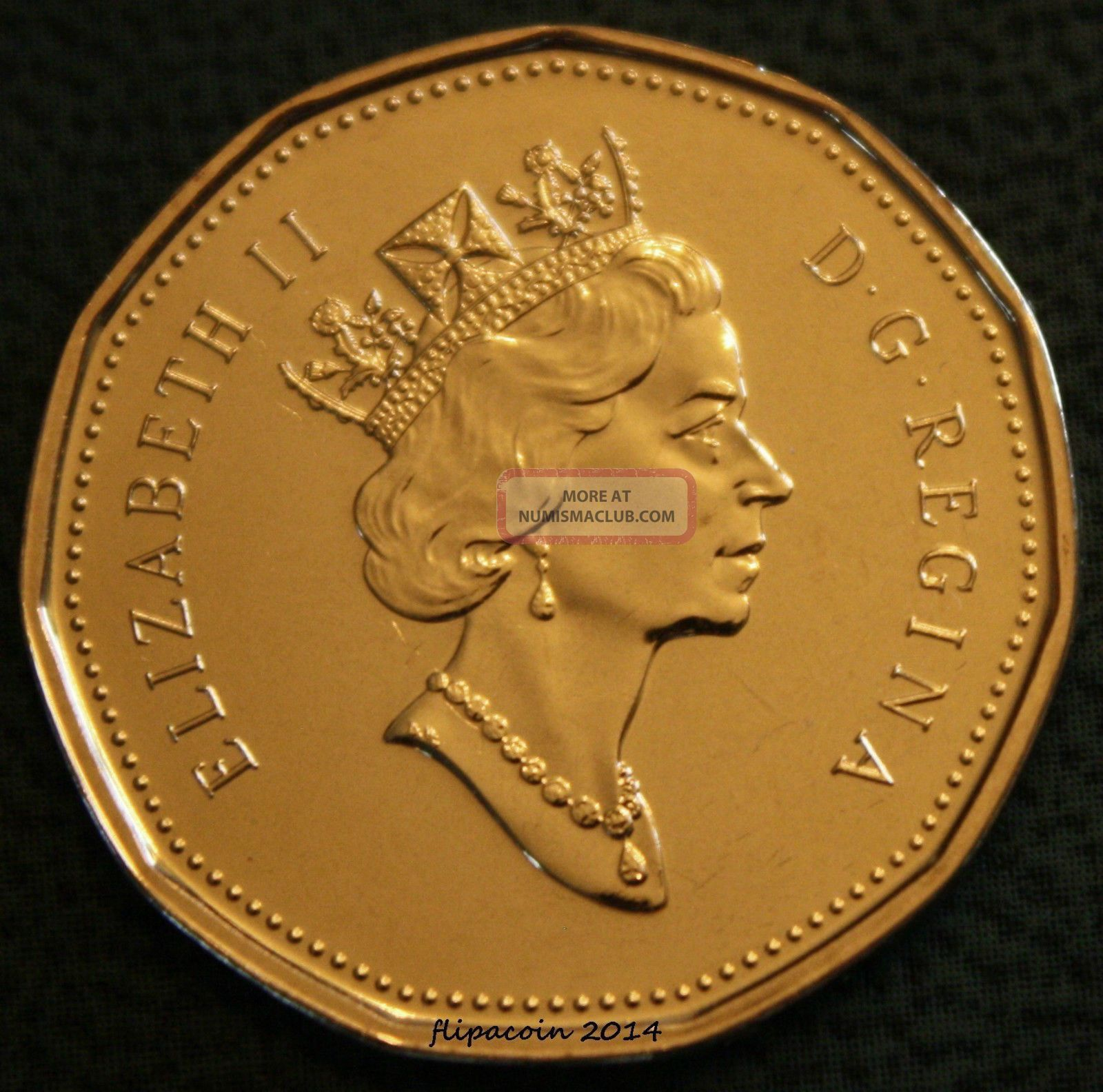 2001 Canadian Loonie One Dollar Coin Bu Pl Not Minted