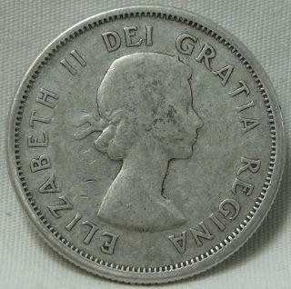 1957 25c Canada 25 Cents,  Quarter,  Elizabeth Ii,  8482 photo