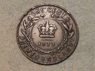 1873 Newfoundland One Cent 3224b photo