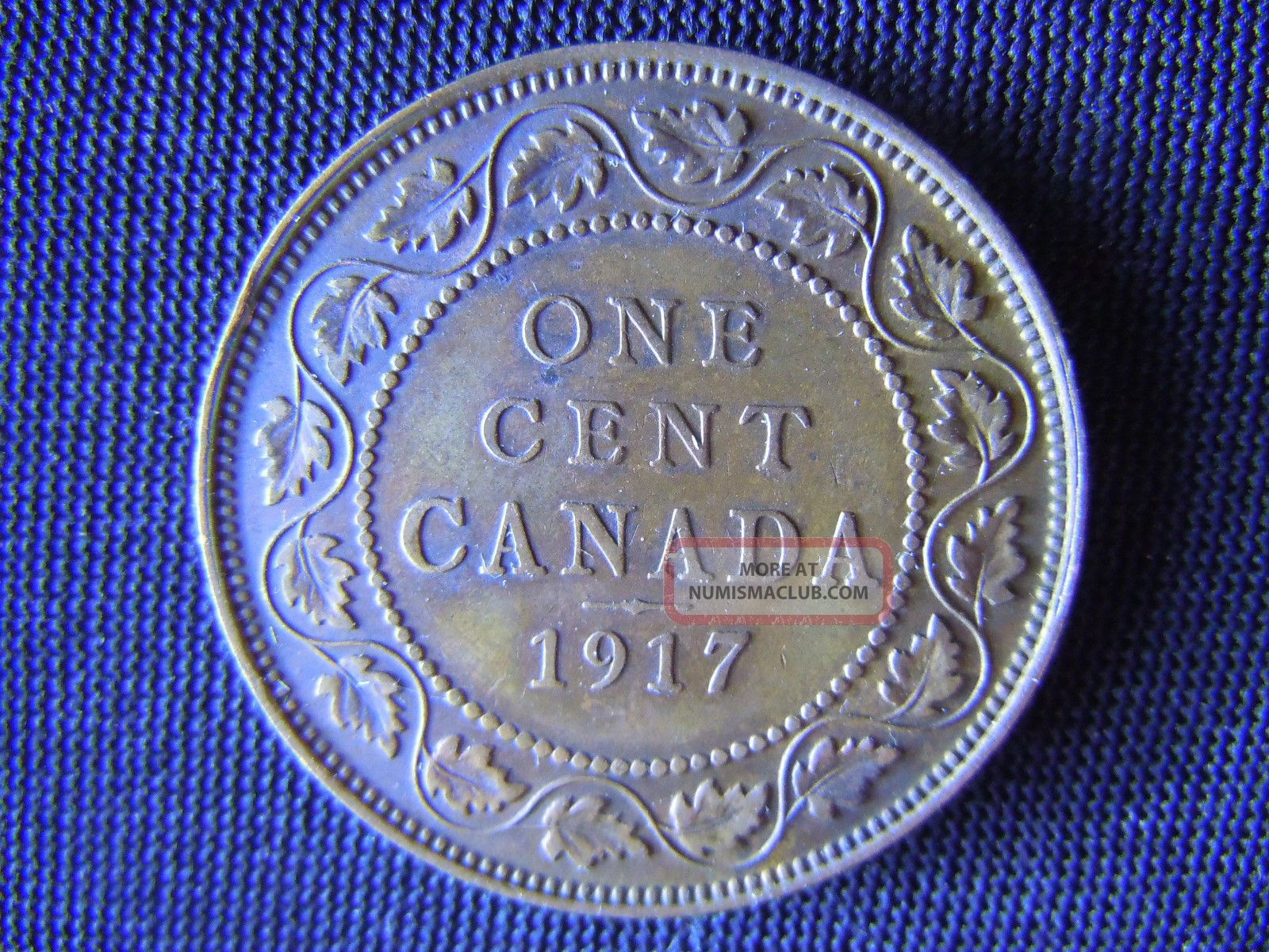 1917 Canada Large One Cent Coin Canadian