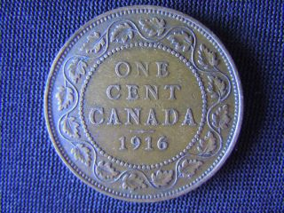 1916 - Canada - Large - One Cent - Coin - - Canadian - Penny - World - 13m photo