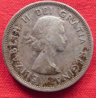 1954 Canada Quarter Silver (2280) photo