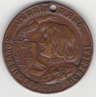 Souvenir Of Montreal Token - Joan Of Arc - Stamped 72607 photo